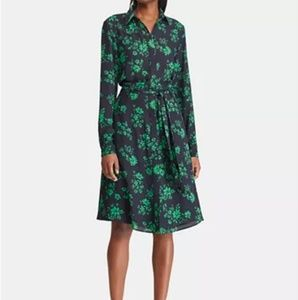 Floral-Print Fit & Flare Shirt Dress